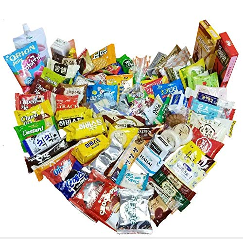 Korean Snack Gift Box (Variety Assortment of Snacks / Over 80 Items / COKOYAM AYCE Snack Box / Perfect Gift for Mother's Day)