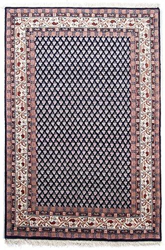 Nain Trading Indo Sarough Mir 140x70 Orientteppich Teppich Läufer Dunkelgrau/Rosa Handgeknüpft Indien Design Teppich Modern