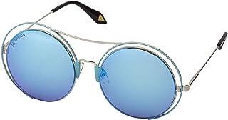 Sky Vision Round Sunglasses for Women, Blue Lens, 20862