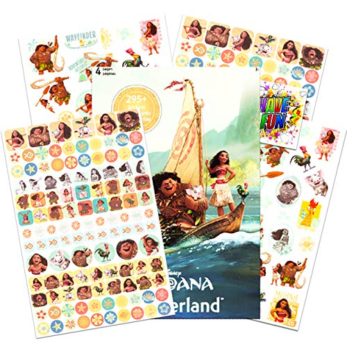 Disney Moana Stickers - Over 295 Stickers Bundled with Specialty Separately Licensed GWW Reward Sticker