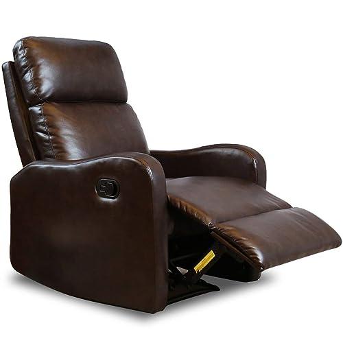 Genuine Leather Recliner Amazon Com
