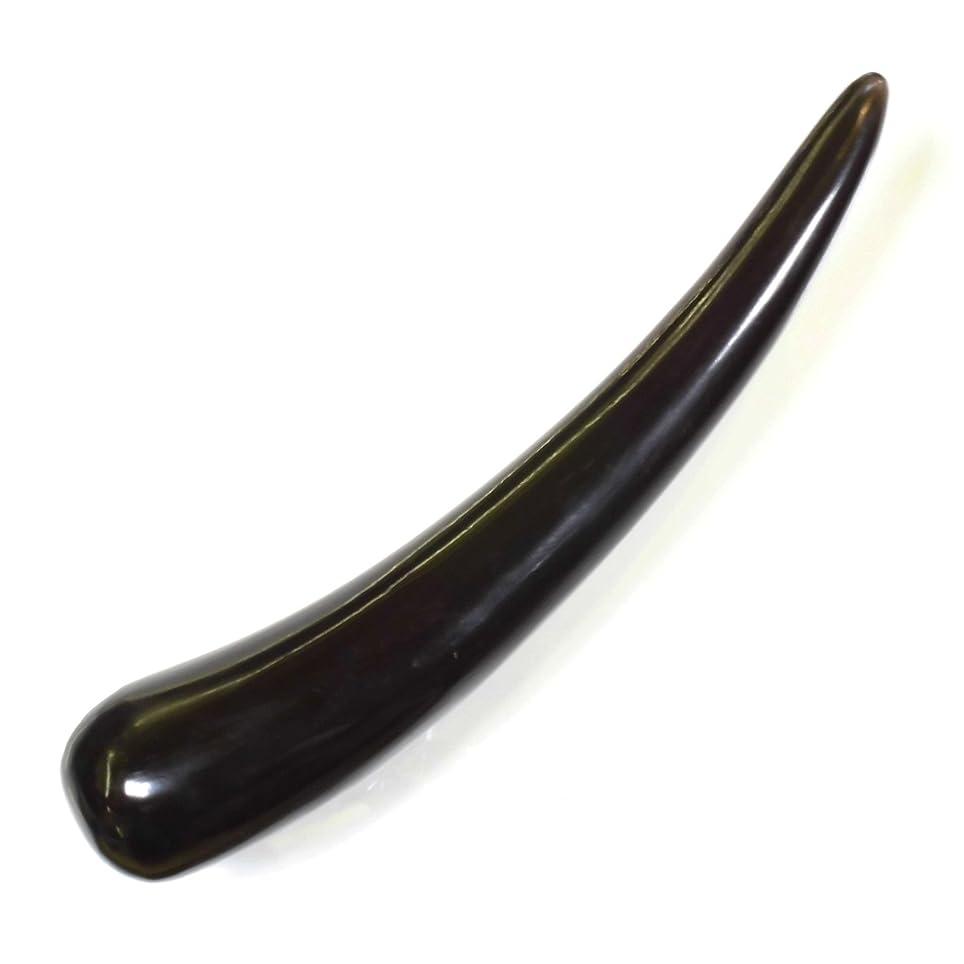 調整ねばねば無駄な水牛の角 ツボ押し 黒水牛角 特大13 長さ20cm