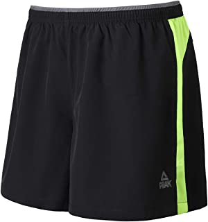 PEAK Men's Quick Dry Lightweight Active Athletic Running Shorts for Fitness, Workout, Basketball, Sports