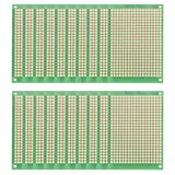 uxcell 5x7cm Single Sided Universal Printed Circuit Board for DIY Soldering Green 20pcs