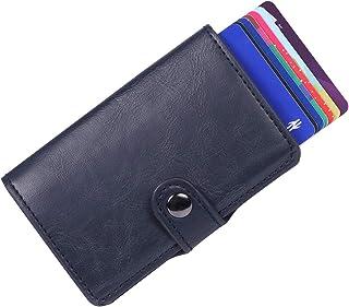comprar comparacion BOJLY Soporte de Tarjeta de crédito, Billetera de Tarjeta con Clip de Dinero Anti-RFID y NFC, 2 Estuches antirrobo de Cuer...