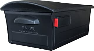 Gibraltar Mailboxes Mailsafe Large Capacity Rust-Proof Plastic Black, Post-Mount Mailbox, RSKB0000