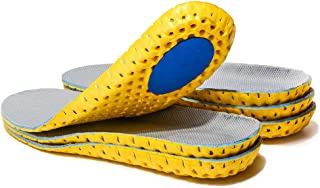 3 Pairs Elastic Shock Absorbing Shoe Insoles Breathable Honeycomb Sneaker Inserts Sports Shoe Insole Replacement Insoles for Men and Women (US 6.5-7)
