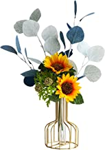 Kunstmatige zonnebloembloem met vaas, Nep Bloemen DIY Bruiloft Centerpieces Boeketten voor Bruiloft Feest Thuis Kantoor De...