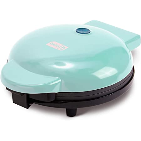 """Dash Express 8"""" Waffle Maker Machine for for Individual Servings, Paninis, Hash Browns + other on the go Breakfast, Lunch, or Snacks, with with Easy Clean, Dual Non-Stick Sides - Aqua"""