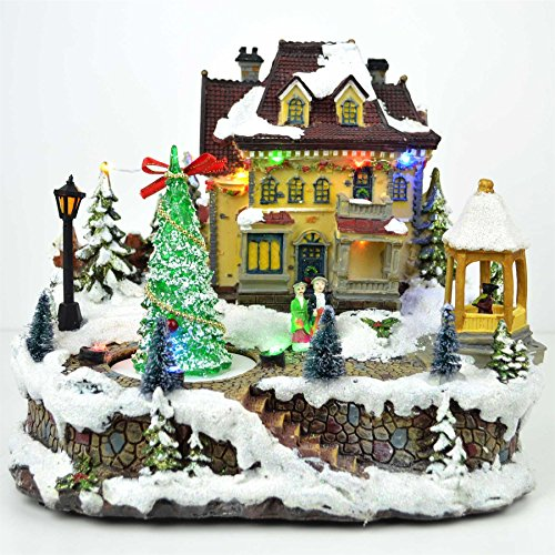 Shatchi Big Christmas Light Up Musicale LED, presepe Natale casa Decorazioni