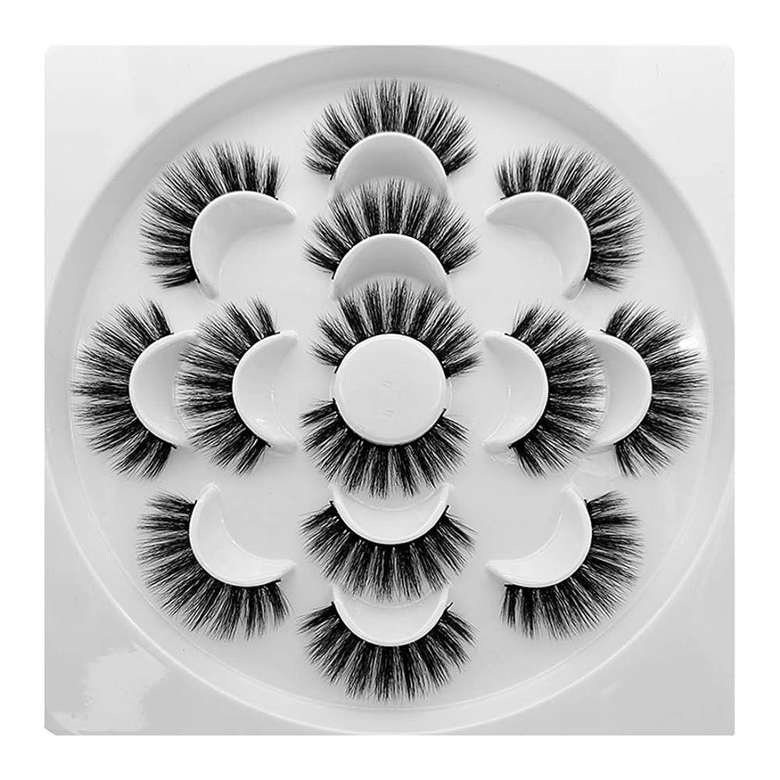 餌失態スマイルOutflower つけまつげ 上まつげ 7ペア 3D 柔らかい 濃密 アイメイク まつげセット 超軽量 高級繊維 手作り 使いやすい 人気