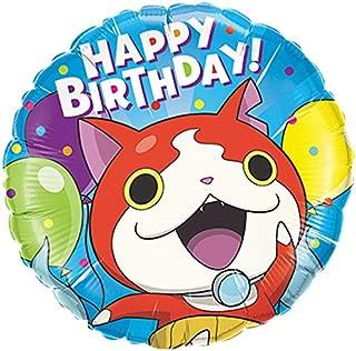 Qualatex Foil Balloon 45285 YO-KAI WATCH-JIBANYAN BIRTHDAY, 18