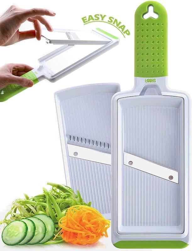2 In 1 Handheld Vegetable Slicer Sharp Hand Mandoline Julienne Slicer For Fruits And Vegetables