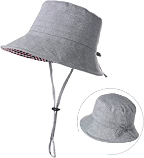 ed547d46e9cae Womens Bucket Sun Hat Short Brim Fishing Cotton Travel Cap Summer Beach  55-60cm
