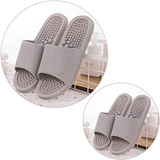Premium Acupressure Reflexology Massage Sandals For Men And Women - Shock Absorbing Cushion Sole With Orthotic Arch Support,2 Pairs (Color : E, Size : 26.5cm(10.43inch))