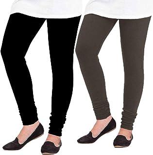 Pixie Woolen Leggings for Women, Winter Bottom Wear Combo Pack of 2 (Black and Dark Brown) - Free Size