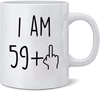 Funny 1959 60th Birthday Gifts Ideas Mug for Men and Women Best Novelty Ceramic Coffee Mugs Anniversary Gifts for Him, Her, Husband or Wife - 60 Year Old Presents for Mom, Dad (60th coffee mugs)