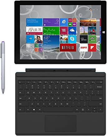 Microsoft Surface Pro 3 Tablet (12-inch, 128 GB, Intel Core i5, Windows 10) + Microsoft Surface Type Cover (Certified Refurbished)