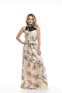 Vestido Clara Arruda Longo Decote Macramê 50422
