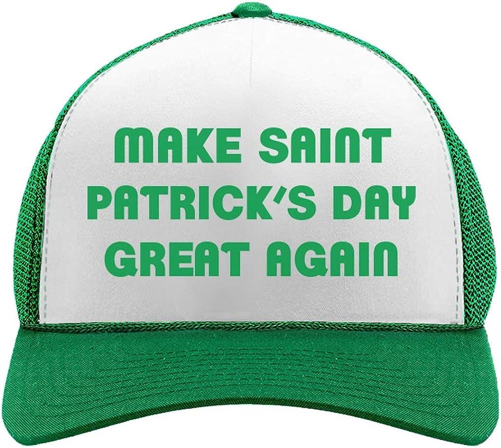 Tstars Make St. Patrick's Day Great Again Cash special price Hat Trucker Mesh Max 79% OFF Trump