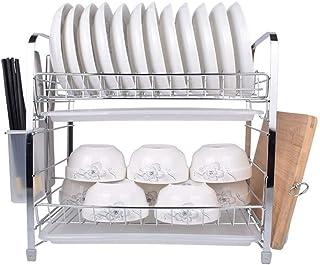 Dxbqm Organisateur de Rangement étagère de Cuisine, Support de Rangement Multifonction en Acier Inoxydable ménage Double é...