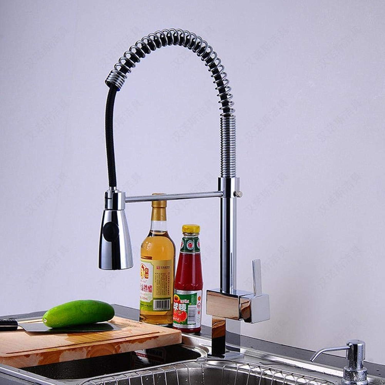 Kai&Guo Deck mouted herausziehen spülbecken Wasserhahn mit hochwertigen massivem Messing küchenarmatur von hot Cold Pull down Wasserhahn,