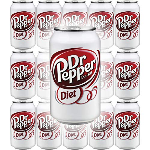 Diet Dr Pepper Soda, 12 Fl Oz Can (Pack of 15, Total of 180 Oz)