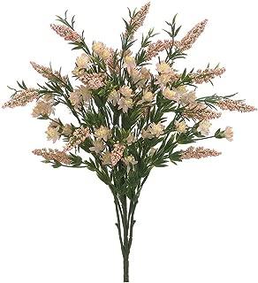 Artificial Wildflower Heather Bush in Peach Pink