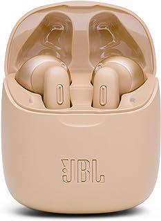 JBL Tune 225TWS In-Ear Hörlurar med Kraftfull Bas, Upp till 25 Timmars Batteritid och Laddningsfodral, i Guld