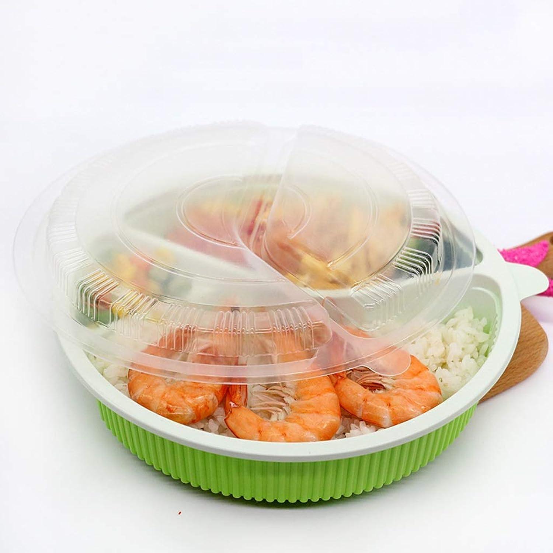 Bol - Boîte à lunch en plastique jetable - Vaisselle emballée à emporter dans une Boîte à sushis pour sushis et biftecks tableware (Couleur   vert)