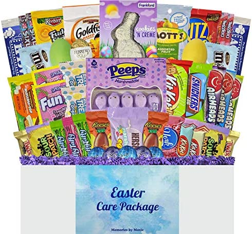 45 CT Deluxe Easter Basket Care Package with Purple Grass for Teens Adults College Students product image