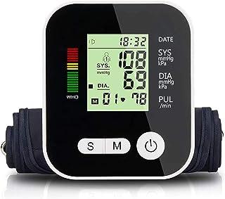 LTLGHY Tensiómetro De Brazo, Monitor De Presión Arterial Digital con Pantalla LED, Deteccion De Irregular Arritmia Brazalete 22-32Cm 2X99 Memoria Y Recargable USB