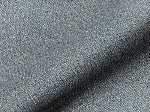Saum & Viebahn GmbH & Co. KG Möbelstoff NORDLI Uni blau, hochwertiger Polsterstoff als Meterware, Fleckschutz