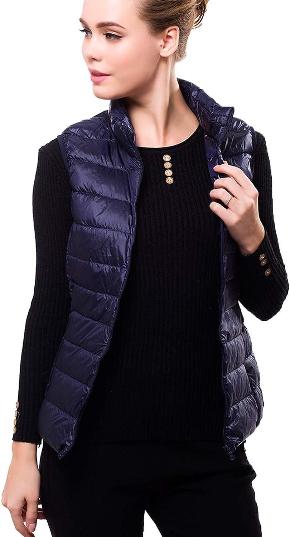 JSUN7 Women Packable Down Vest