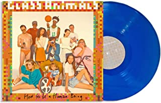 """Glass Animals """"How To Be A Human Being"""" Exclusive Coral Blue vinyl Bonus Fold-out Poster & Download Card [vinyl] Glass Ani..."""