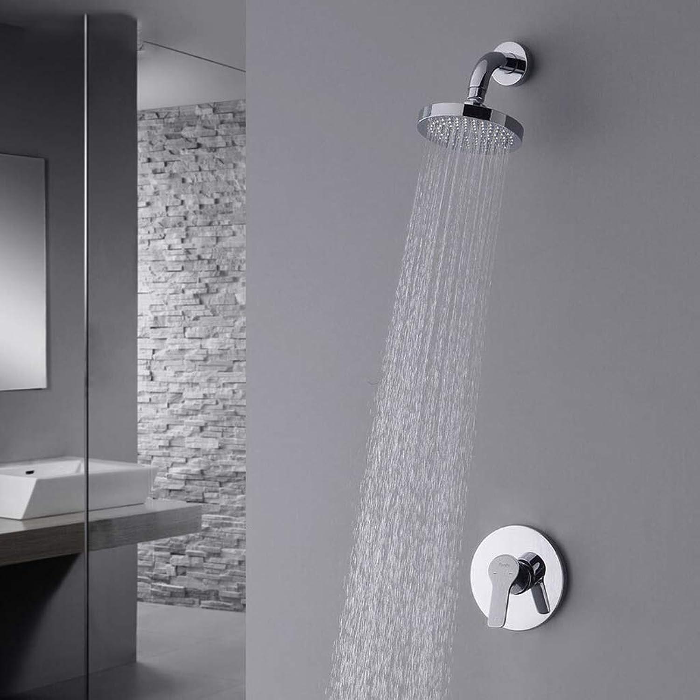 Li@ Simple concealed shower set, full copper bathroom shower system, single function faucet (Size   A)