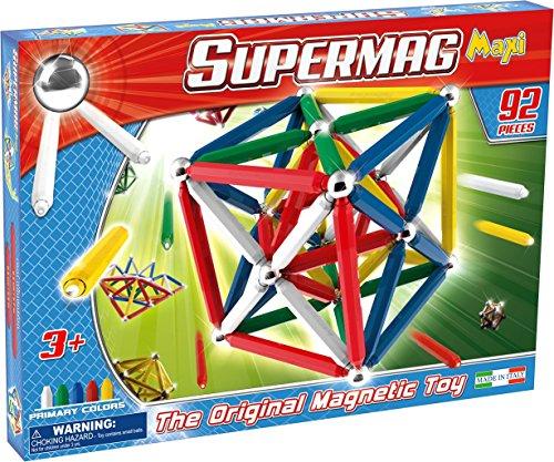 Supermag Toys - 0108 - Maxi Classic Gioco di Costruzioni Magnetico, 92 Pezzi