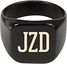 Molandra Products JZD - Adult Initials Stainless Steel Ring