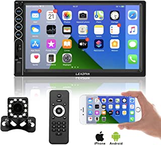 """$81 » 7"""" Car Stereo Double Din Radio Digital Media Receivers Capacitive Touchscreen MP5 Player with Backup Camera, Phone Mirror ..."""