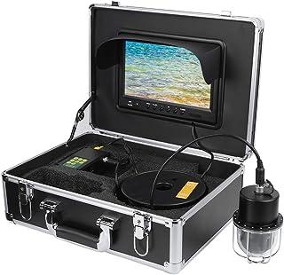 Cámara de Pesca submarina DVR de 9 Pulgadas, buscador de Peces Visual subacuático con 20 LED, línea de 65,6 pies, cámara d...