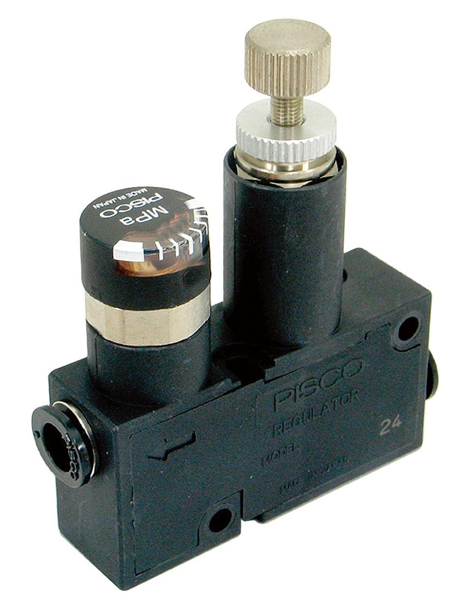 女将塩見捨てられた新潟精機 BeHAUS レギュレーター ゲージ付 チューブ外径:6mm RVUM6-6