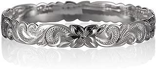silver hawaiian bangle bracelet