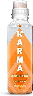 Karma Wellness Flavored Water, Orange Mango, 18 Fl Oz (Pack of 12), Natural Lift, Low Calorie, Refreshing V...