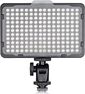 TOLIFO Photo Studio 176 LED Ultra Bright Dimmable On Camera Video Light for Canon,Nikon,Pentax,Panasonic,Sony,Samsung,Olympus and Other Digital SLR Cameras(PT-176S)