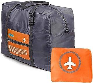 NOVAGO Sac de Voyage Pliable Grande Taille 30L, Facile a Ranger et très léger (Orange)