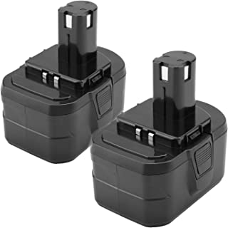 Creabest New 2Packs 14.4V 3000mAh Replacement Battery for Ryobi 130224010 130224011 130281002 1314702 Ni-MH Battery Pack