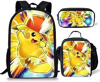 Juego de mochila escolar para niños, incluye bolsa aislada, lonchera, estuche, 3 piezas