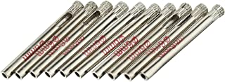 uxcell 10Pcs 6mm Diamond Coated Hole Saw Drill Bits for Glass Ceramic Tile Marble Rock Porcelain