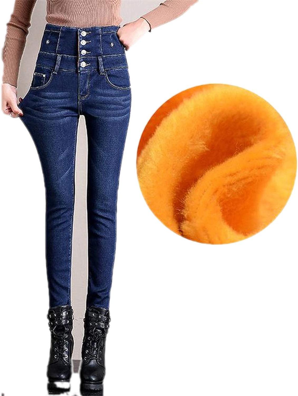 2019 Winter Push Up Plus Size Jean with High Waist Denim Pants Womens Female Boyfriend Jeans for Women Warm Fleece Jeans Woman,bluee,28