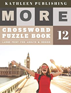 Crossword Books for Adults Large Print: Crosswords for the Elderly | More Large Print | Hours of brain-boosting entertainment for adults and kids | happy life design (crossword books quick)